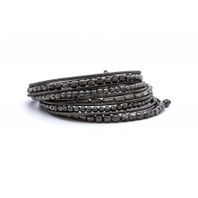 metal snake slim black