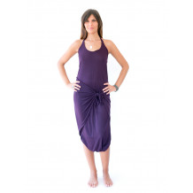 vestito pareo lycra purple