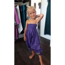 pantaloni stle indiano seta viola bimba